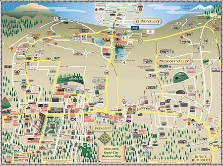 Map Of Arizona Prescott.Prescott Map Local Print Web Online Advertising Prescott